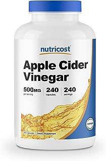 Nutricost Apple Cider Vinegar Capsules 500mg, 240 Veggie Capsules - Natural, Vegan, GMP, Non-GMO and Gluten Free