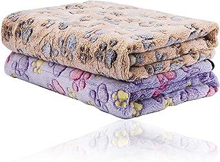 N\C Hundfiltar 2-pack, absorberande, mjuk och tvättbar (76 cm x 52 cm), handduk hundar, mikrofiber badhandduk för husdjur,...