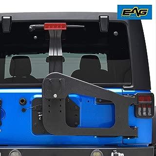 EAG Tire Carrier on Door Hinge W/Adjustable Tire Mount Fit for 07-18 Jeep Wrangler JK