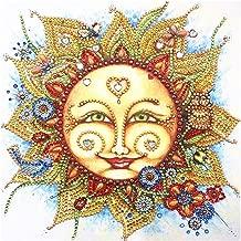 5D Diamond Painting Adult or Child DIY Diamond Embroidery, Special Shape Diamond Painting Sun Flower Pattern Hibah
