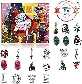 Benedict 24 stuks Kerstmis sieraden advent kalender 24 dagen Xmas countdown advent kalender met kerstarmband Charms sieraden