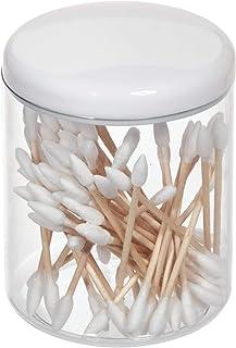 iDesign Rangement Cosmétiques, Petite Boîte avec Couvercle en Plastique pour Coiffeuse ou Lavabo, Rangement de Salle de Ba...