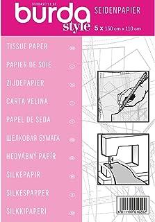 Burda 2Gtis | Dressmakers Tissue Paper | 110 x 150 cm, Fabric, Pink, One Size