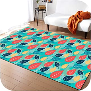 Large 3D Carpets Green Leaf Vein Rug Bedroom Kids Room Play Mat Memory Foam Area Rugs Carpet for Living Room Home Decorative,No-6,203x147cm