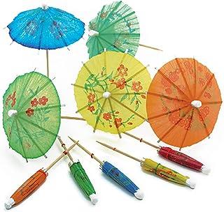 Norpro, Multicolored 24-Pack Decorative Cocktail Umbrella Picks, 4†/10 cm
