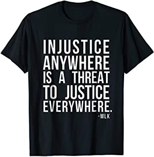 Injustice anywhere is a threat to justice everywhere FRONT