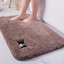"ESUPPORT Bath Mats Rug Soft Natural Floor Carpet Non Slip Outdoor Entrance Doormats,19.6"" x 31.4""/Brown"