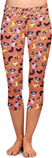 Rainbow Rules Mickey & Friends Mouse Ears Disney Inspired Yoga Leggings - Capri 3/4 Length, Low Waist