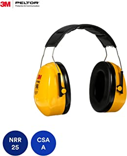3M Peltor Optime 98 Over the Head Earmuff, Hearing Protection, Ear Protectors, NRR 26 dB, Ideal for heavy equipment operations
