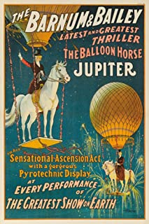 Barnum and Bailey - Jupiter Vintage Poster USA c. 1909 (16x24 Giclee Gallery Print, Wall Decor Travel Poster)