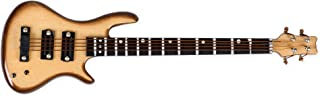 Bass Guitar Miniature Replica Yellow Wood Tone 2 x 4 Resin Refrigerator Magnet