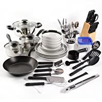 Gibson Home Essential Total Kitchen 83-Piece Combo Set (Black)