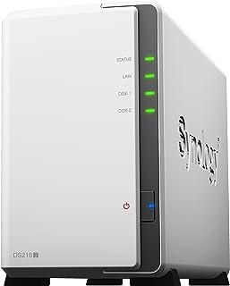 Synology DiskStation DS218J Ethernet Escritorio Blanco NAS - Unidad Raid (6 TB, Unidad de Disco Duro, Unidad de Disco Duro, SSD, SATA, 3000 GB, 2.5/3.5