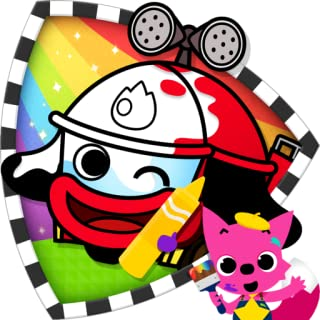 PINKFONG! Cars Coloring Book: Fire Trucks, Police Cars & More