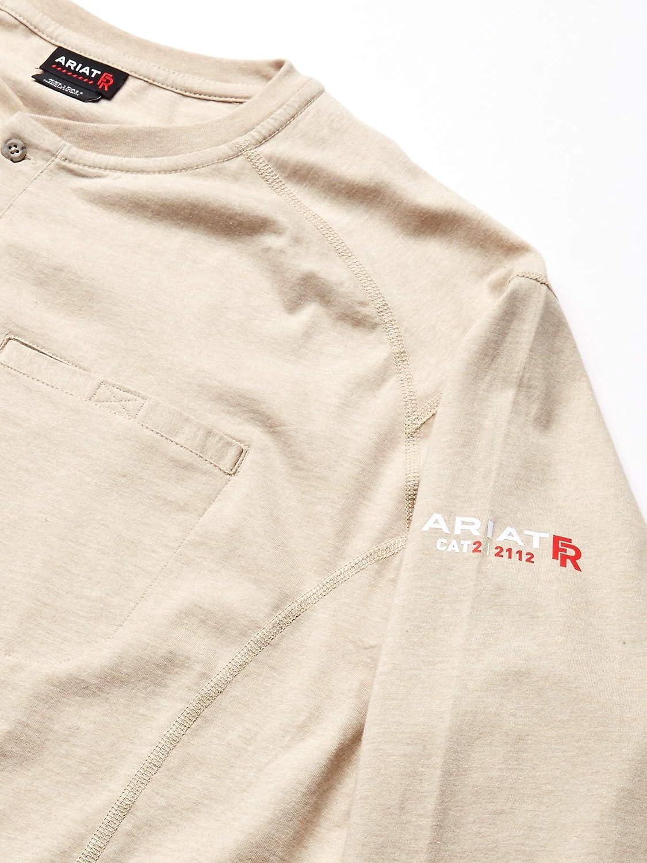 Ariat Camisa de hombre grande y alta resistente al fuego Air ...