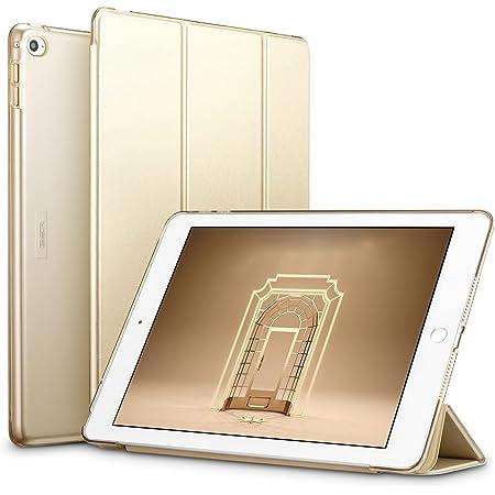 ESR iPad Air2 ケース クリア PUレザー [スタンド機能 オートスリープ] (ゴールド)