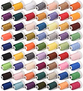 Simthread 63 Farben Polyester Maschinen Stickgarn - 500 Meter, für Brother, Babylock, Janome, Kenmore, Singer, W6 N Stickereimaschine