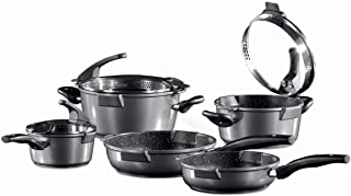 Germany's Stoneline Xtreme Series 8 Pieces Set Non-stick Non-Toxic Stone Coating Cookware - Top of the line model, better taste food