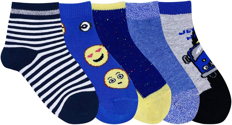 Lobster Feet Short Length Kid's Socks ( Multicolor , Pack of 5 )