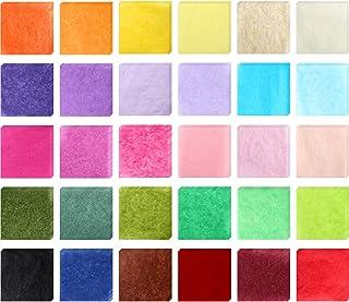 3000 piezas de papel de seda cuadrado papel de regalo de bricolaje colorido papel de seda para niños artesanía regalo de bricolaje artesanía adornos de Scrapbooking artesanía, 30 colores, 2 pulgadas