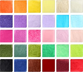 3000 Pieces Tissue Paper Colorful Square Tissue Paper Scrapbooking Gift Tissue Paper for Kids DIY Art Craft, 30 Colors, 2 Inches