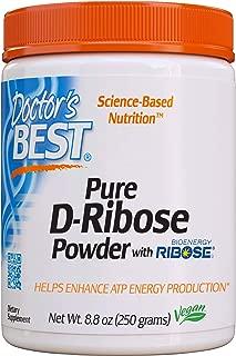 Doctor's Best D-Ribose with Bioenergy Ribose, Non-GMO, Vegan, Gluten Free, Energy Enhancement, 250g