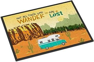Caroline's Treasures VHA3027MAT RV Camper Camping Wander Indoor or Outdoor Mat 18x27, 18H X 27W, Multicolor