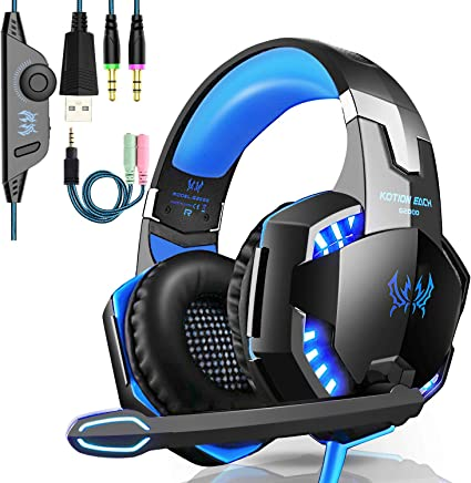 OCDAY Cuffie Gaming per ps4, G2000 cuffie con microfono, Cuffie da Gioco con 3.5mm Jack LED , Cuffie gaming pc con Stereo e Controllo Volume Gaming Headset per PS4/Xbox One/Nintendo, Switch/PC/Laptop - Trova i prezzi più bassi