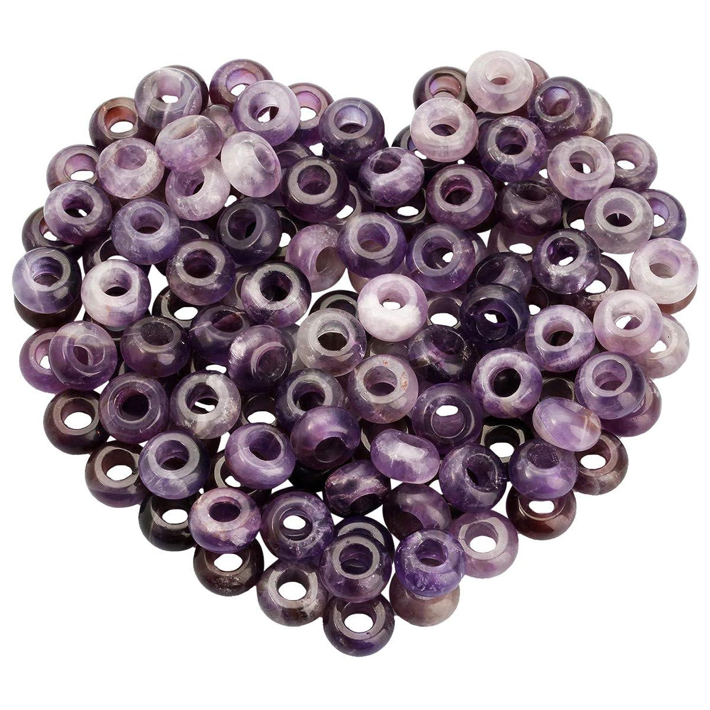 rockcloud 25 Pcs Large Hole Stones Rondelle Loose Beads Fit European Charm Bracelet Jewelry Makings