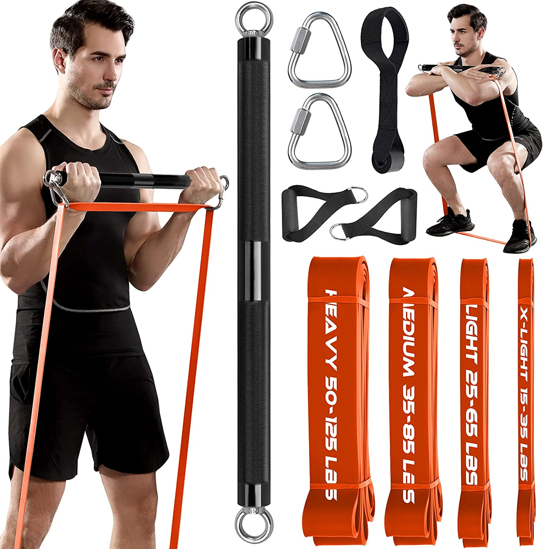 TESLANG Resistance Band Bar 500 Training price Strength Load LBS Max 76% OFF