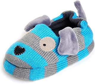 Toddler Boys Slippers Cartoon Puppy Crochet Shoes