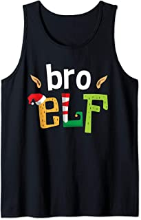 Bro Elf Christmas Elves Squad Brother Matching Elf Family Tank Top