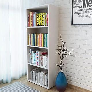 Festnight- Estantería de Madera Librerías de Oficina 60 x 31 x 155 cm Blanca