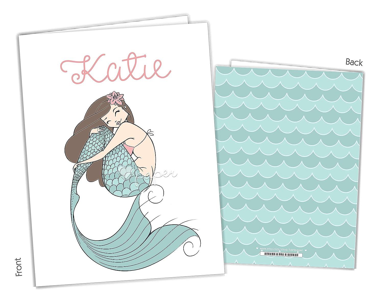 Mermaid 2 5 ☆ popular Brand Cheap Sale Venue Pocket Folder Gift Name Teache Supplies Back School to