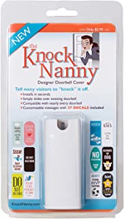 Knock Nanny Door Bell Cover, White