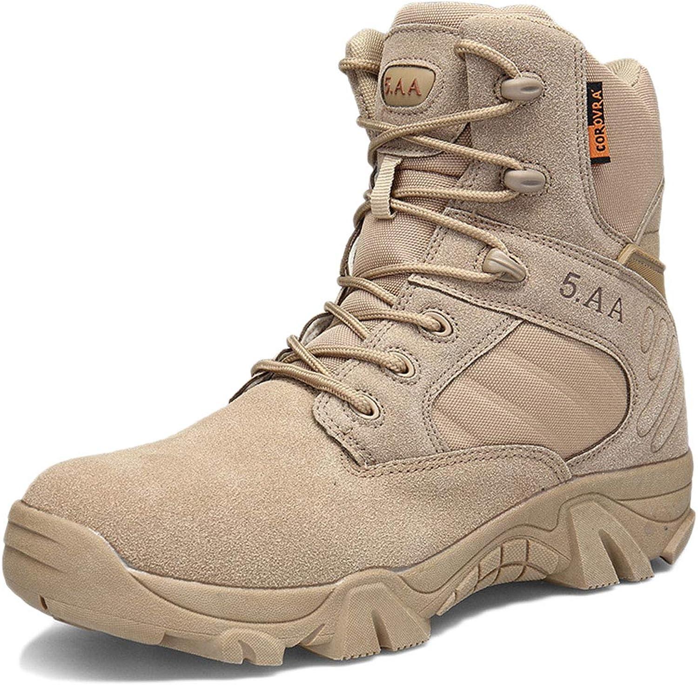 Tactical Boots Men Black Desert Breathable Lightweight High-top wear-Resistant Outdoor Boots wear-Resistant Desert Combat Boots