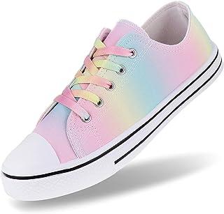 Women's Canvas Shoes Low Top Fashion Sneaker Lace up...
