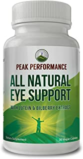 Eye Vitamins - Best Eye Support Supplement for Computer Users with Lutein, Zeaxanthin, Astaxanthin, Carotenoids, and Bilbe...
