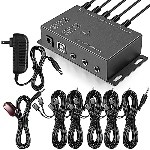 Infrared Repeater System IR Repeater Kit Control Up To 10 Devices Hidden IR System Infrared Remote Control Extender Kit