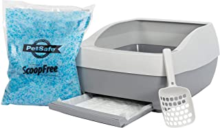 PetSafe Deluxe Cat Litter Box with Crystal Litter System – Starter Kit Includes Litter Scoop, Pee Pad, 1 Month of ScoopFre...