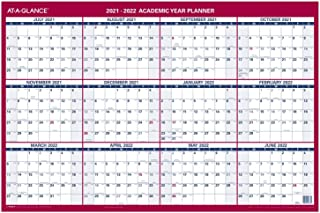 "$23 » 2021-2022 Erasable Calendar, Dry Erase Wall Planner by AT-A-GLANCE, 36"" x 24"", Large, Academic & Regular Year, Double Side..."