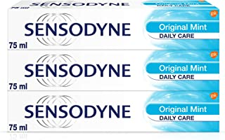 Sensodyne Sensitive Toothpaste, Daily Care Original Mint, 75 ml, Pack of 3