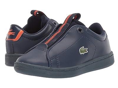 Lacoste Kids Carnaby Evo Easy 319 1 (Toddler/Little Kid) (Navy/Orange) Kid
