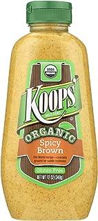 Koops' Organic Spicy Brown, 12 oz. Bottle, 12-Pack