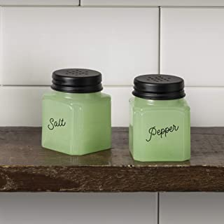 J.C. and Rollie Mint Glass Salt and Pepper Shakers