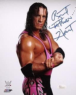 Bret Hart Signed WWE 8x10 Photo JSA ITP