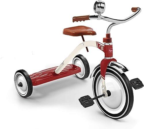 Baghera Vintage Dreirad   Mit Stahlrahmen und Gummireifen - Retro und klassischer Stil   Für Kinder ab 24 Monaten