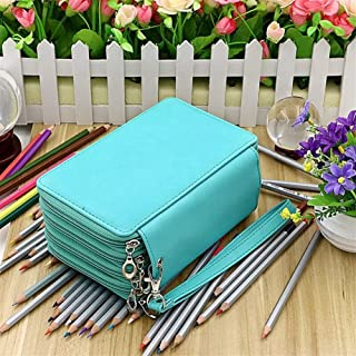 YWSCXMY-AU 4-Layer Portable PU Leather School Pencil Case Large Capacity Color Pencil Bag Student Gift Art Supplies (Color : Green)