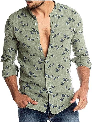 Camisa Hombre LMMVP Slim Fit Basic Diseño Manga Larga Camisa ...