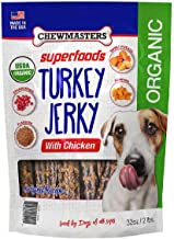 Chewmasters Turkey Jerky with Chicken Original Recipe Healthy Dog Treats Organic (2 LB)